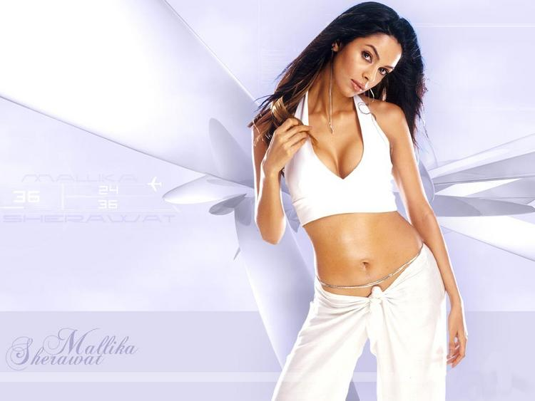 Mallika Sherawat sexy navel show wallpaper