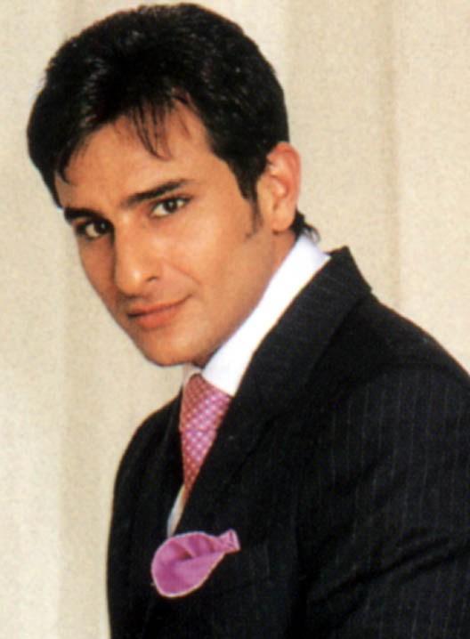 Saif Ali Khan black coat wallpaper