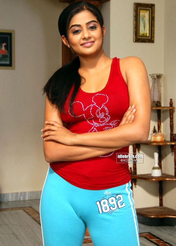 Priyamani red t shirt cute photo