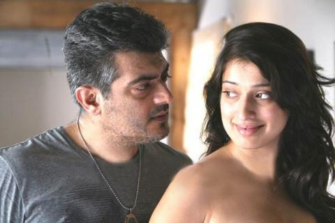 Ajith and lakshmi rai mankatha movie hot stills