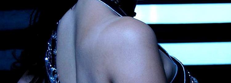 Lakshmi Rai sexy back expose in black color saree
