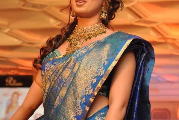 Lakshmi rai looking gorgeous in silks fashion show