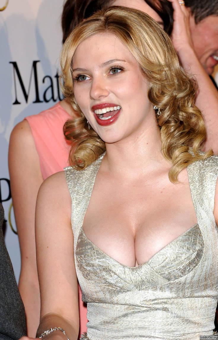 Scarlett Johansson open boob cute still