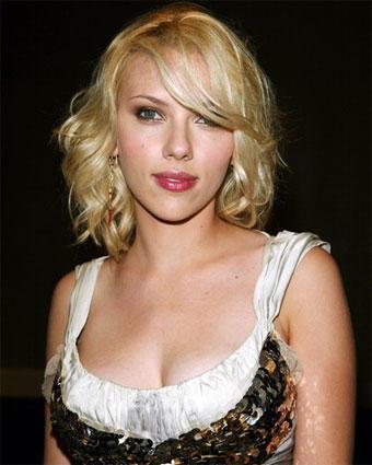 Scarlett Johansson red lips sexy wallpaper