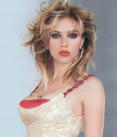 Scarlett Johansson cute hairstyle wallpaper