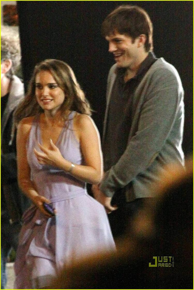 Ashton Kutcher and Natalie Portman cute still