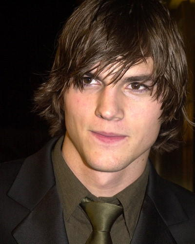 Ashton Kutcher latest hair style still