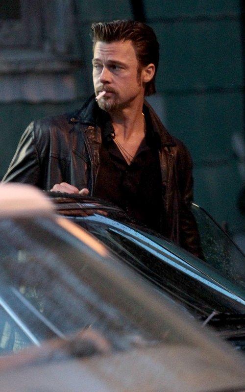Brad Pitt Cigarette hot still