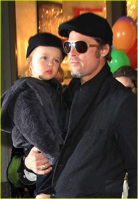 Brad Pitt with her child