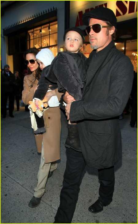 Brad Pitt with Family