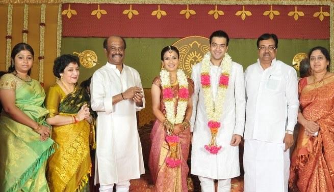 Rajinikanth daughter soundarya wedding pictures