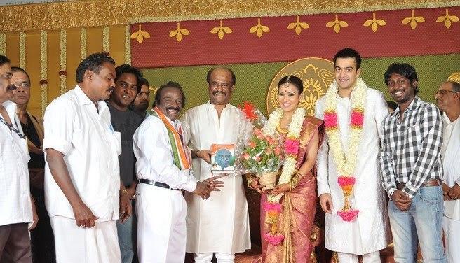 Rajinikanth daughter soundarya rajinikanth marriage pics