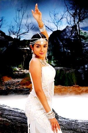 Asin Thottumkal white dress hot wallpaper