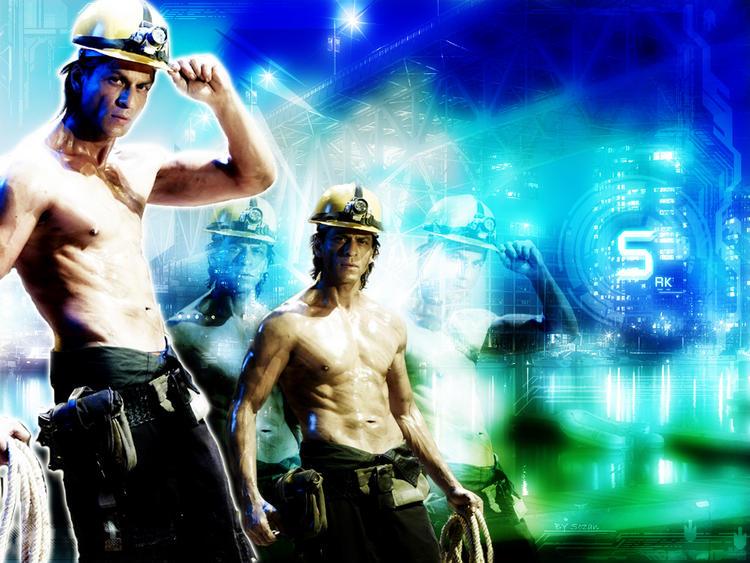 Shah Rukh Khan sexy body hot wallpaper