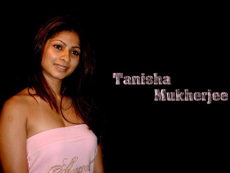Tanisha Mukherjee pink sleeveless dress wallpaper