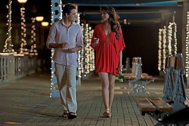 Imran Khan and Deepika Padukone red mini dress still