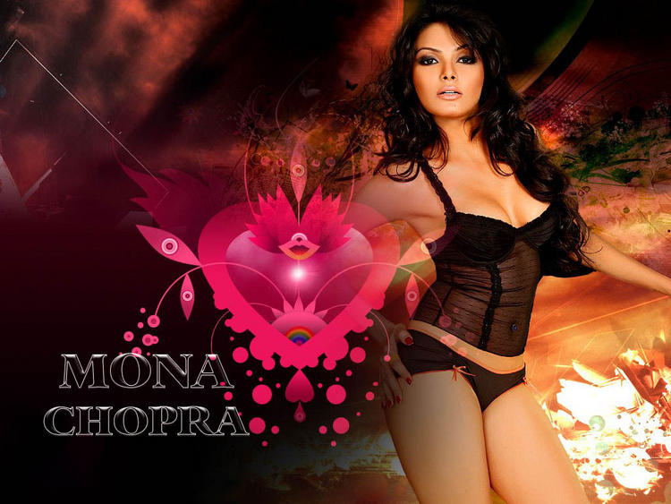 Actress Mona Chopra glamourous wallpaper