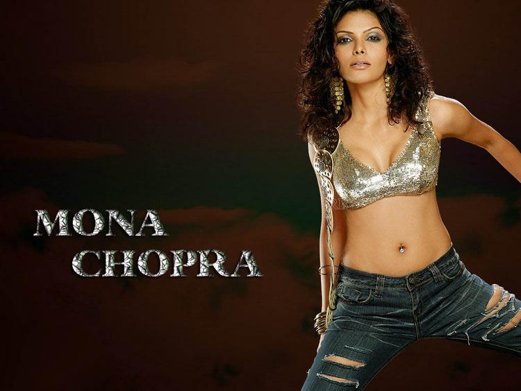 Mona Chopra hottest navel wallpaper