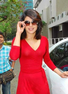 Priyanka Chopra red dress stylist photo