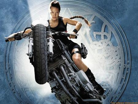 Angelina Jolie movie bike photo