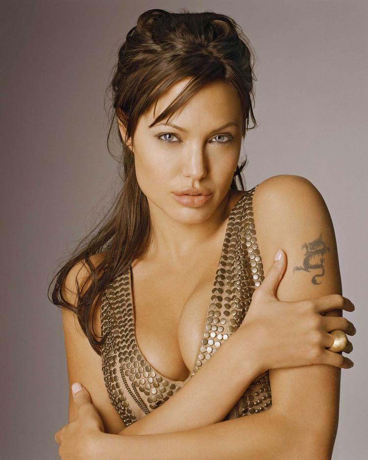 Angelina Jolie open boob hot pics