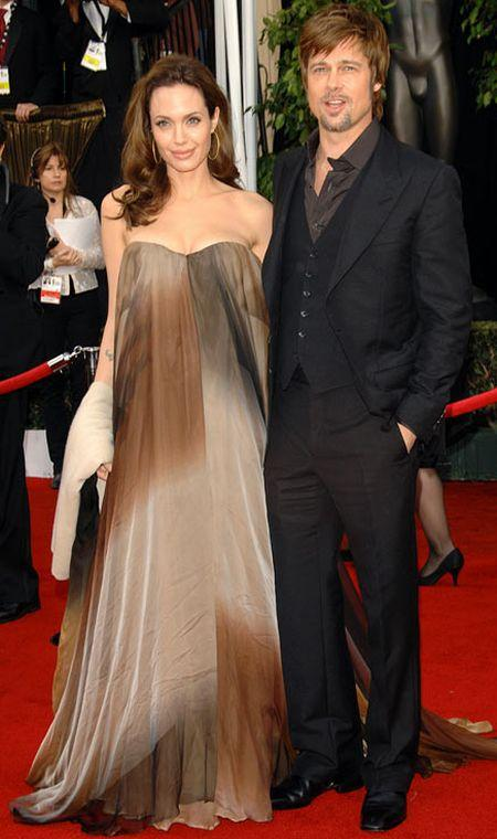 Angelina Jolie with amazing gown on red carpet