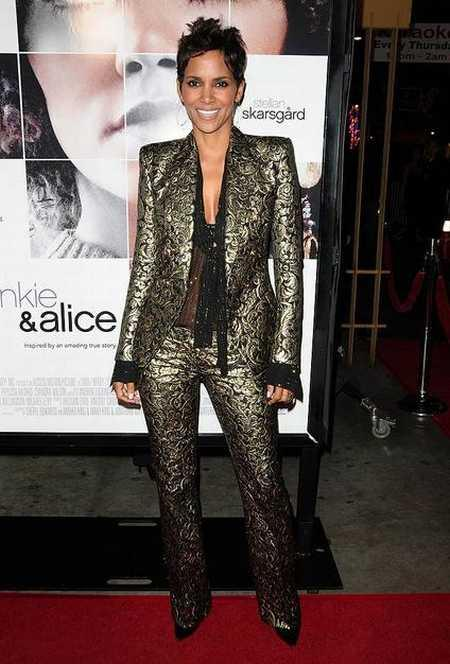 Halle Berry full dress glamour still