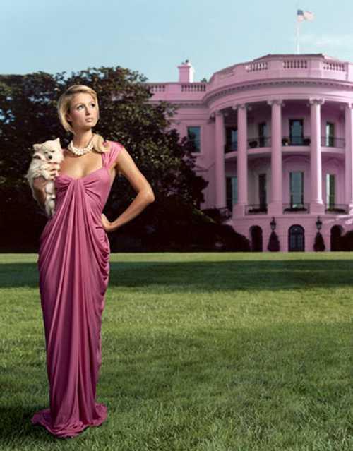 Paris Hilton in fashionable dress