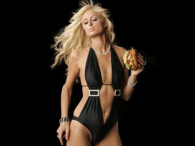 Paris hilton very hot wallpapers of black dress