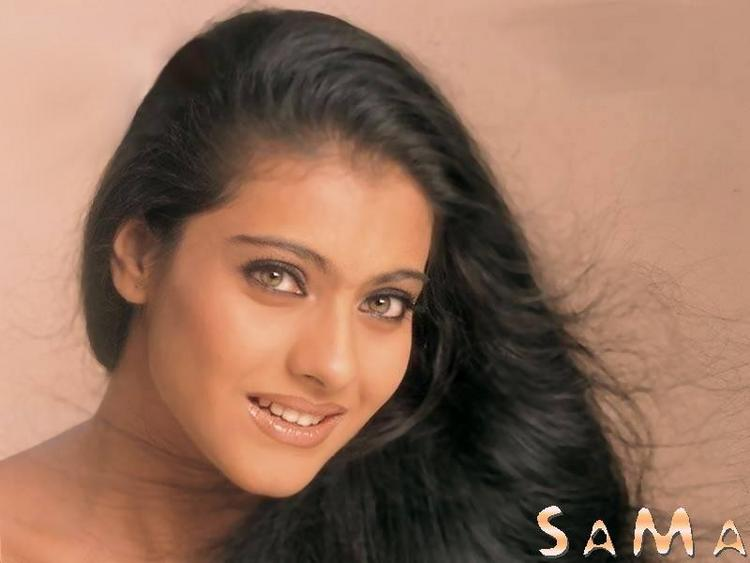 Kajol Devgan black hair sexy look