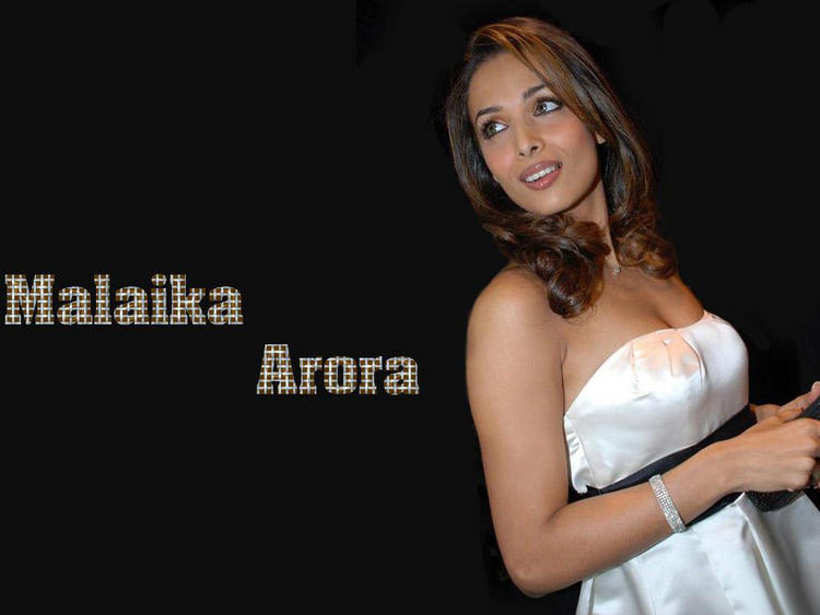 Malaika Arora white sleeveless dress wallpaper