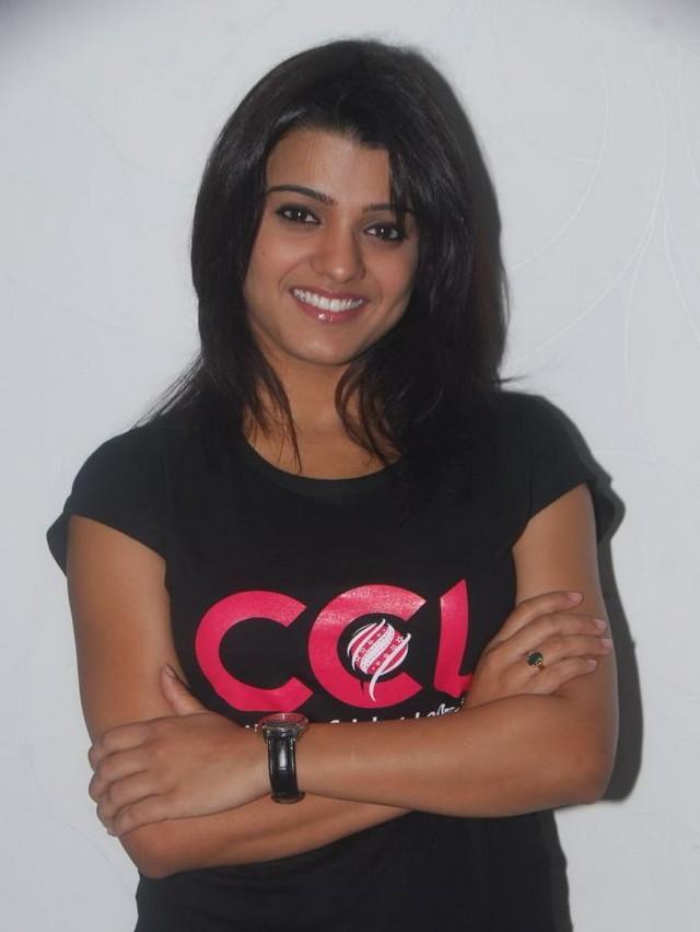 Tashu Kaushik black dress sweet pose