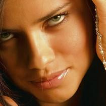 Adriana Lima sexy eyes and lips wallpaper