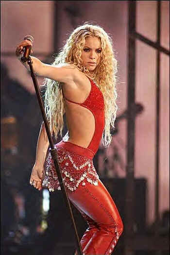 Shakira hot dance red dress stills