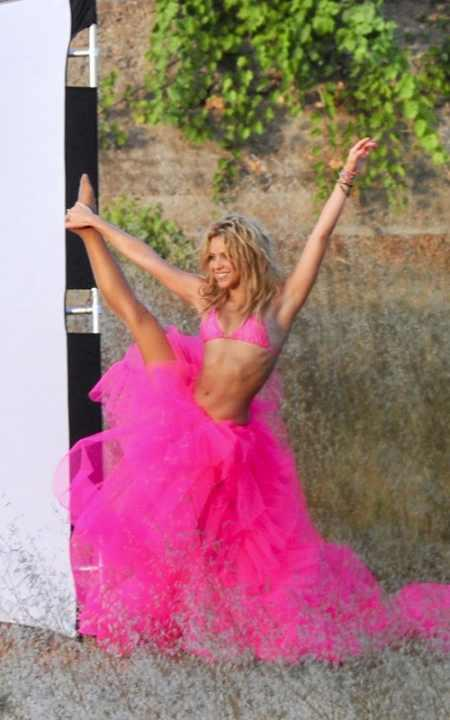 Shakira fifa song pink dress still