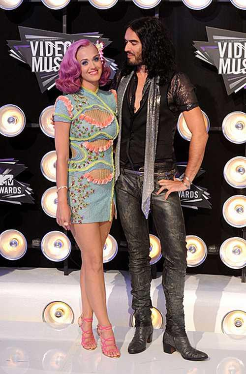 Katy Perry and Russell brand at MTV