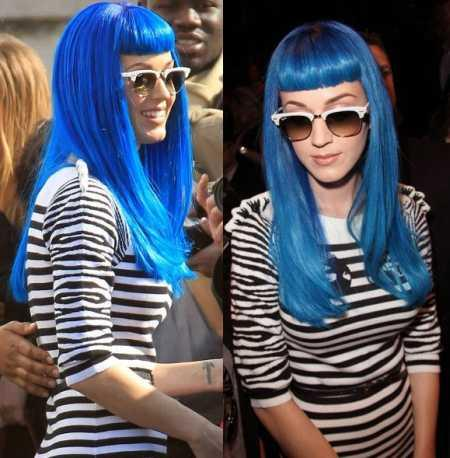 Katy Perry blue hair color picture