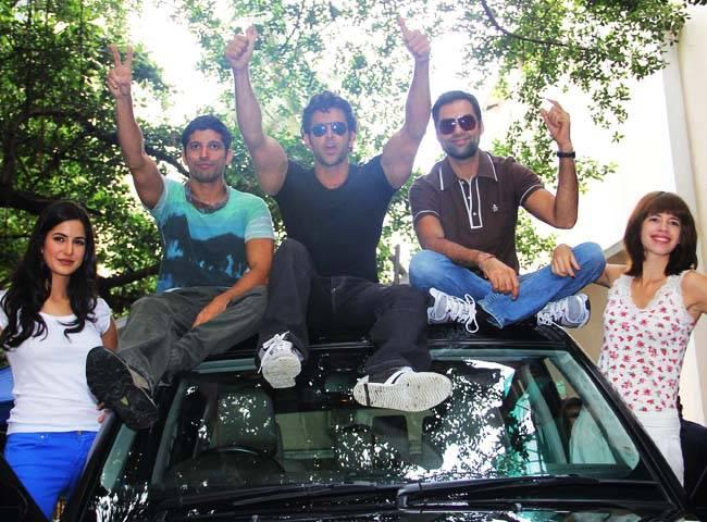 Katrina,Farhan,Hrithik Abhay and Kalki Koechlin film pics