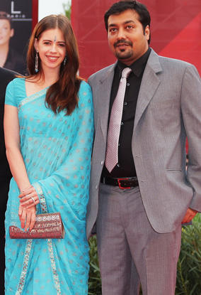 Anurag Kashyap and Kalki Koechlin in saree beauty still