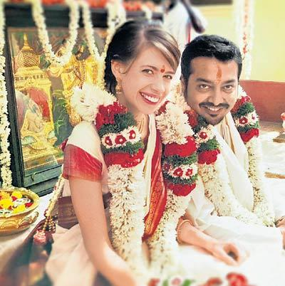 Kalki Koechlin and Anurag Kashyap wedding photo