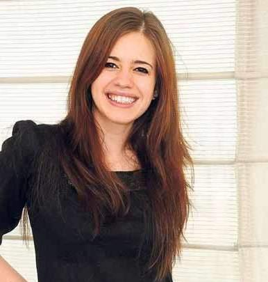 Kalki Koechlin black mix brown hair cute photo