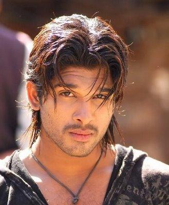 Allu Arjun hair style hot face look
