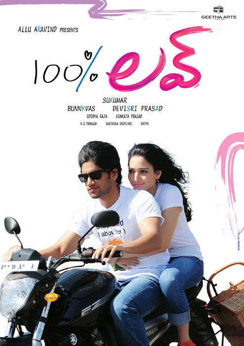 Naga Chaitanya Hundred Percent Love movie bike still