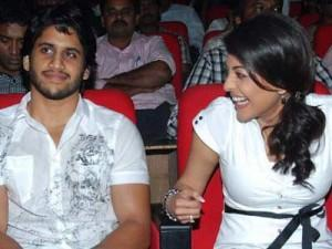 Naga Chaitanya and Kajal cute photo