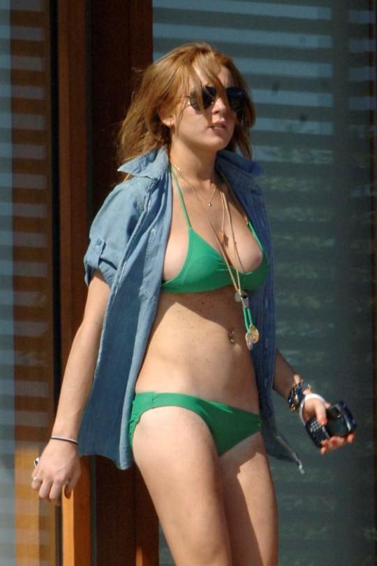 Lindsay Lohan bikini picture