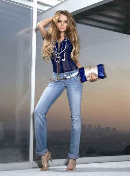 Lindsay Lohan tight jeans stylist photo shoot