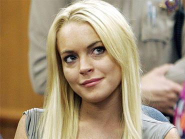 Lindsay Lohan white hair cute face pic