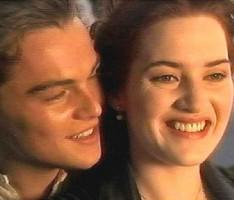 Leonardo DiCaprio and kate winslet  glamour still