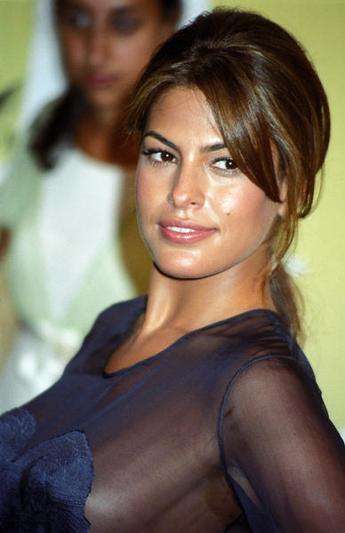Eva Mendes formal hair style glamour photo