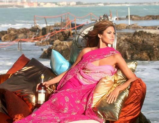 Hot Babe Eva Mendes in saree